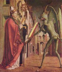 Saint Wolfgang et le démon (Michael Pacher)