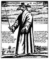 Médecin soignant la peste noire